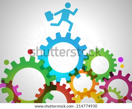 business world illustration. Transparency, gradient and blending modes used. - stock vector