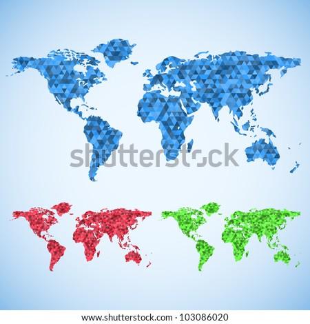 Business world map set. - stock vector