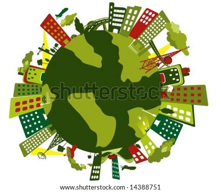 Business World - Vector - stock vector