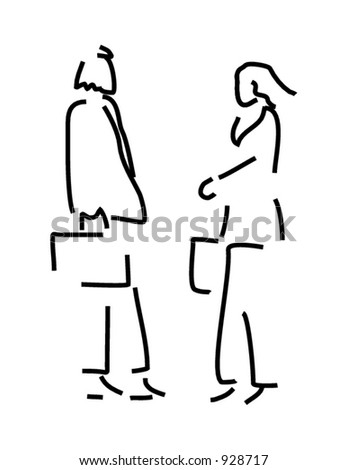 Businessman and businesswoman. - stock vector