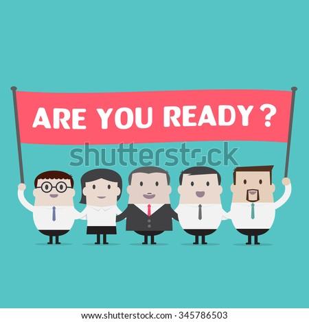 Are you ready  stock photos