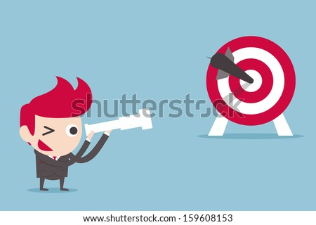 businessman and target, vector