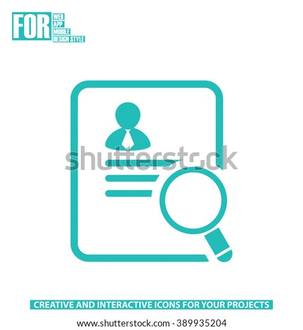 Businessman application for a job icon - stock vector