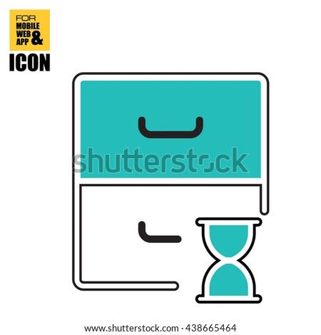 Businessman application for a job icon-archive time icon - stock vector