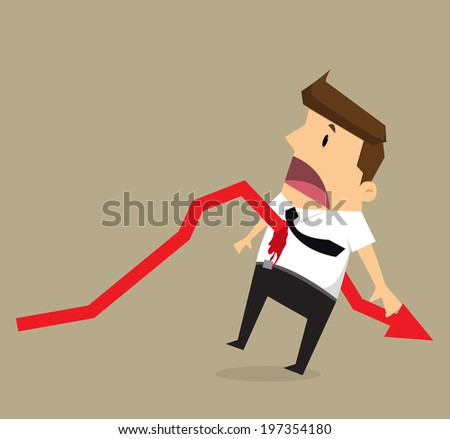 businessman arrow stab - stock vector