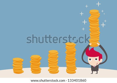 businessman being part of a chart - stock vector