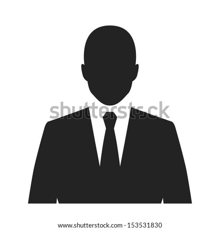 businessman black web icon. vector illustration - stock vector