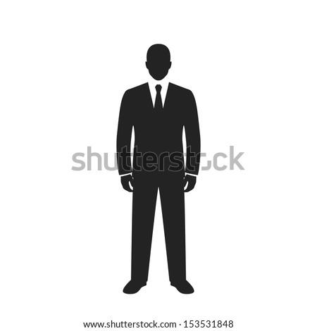 businessman black web icon. vector illustration - stock vector