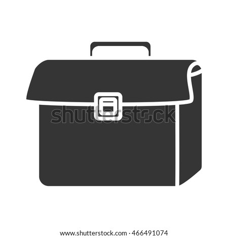 Businessman briefcase isolated flat icon, vector illustration graphic.