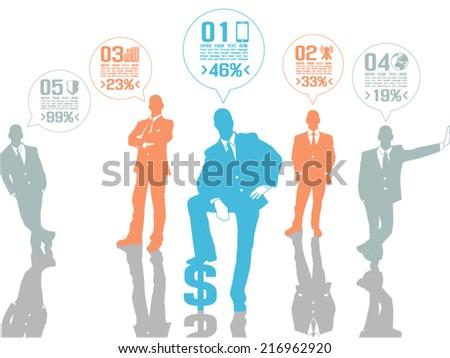 BUSINESSMAN CONCEPT OPTIONS 2 ORANGE - stock vector