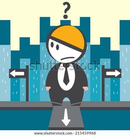 Businessman confuse - stock vector