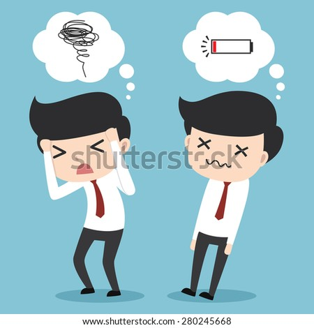 Businessman confused and stressed - stock vector