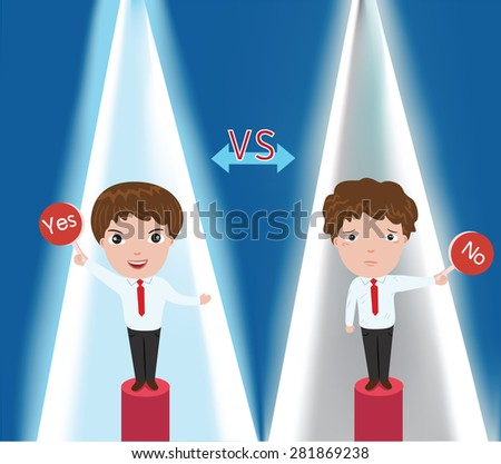 Businessman contest ' vector illustration - stock vector