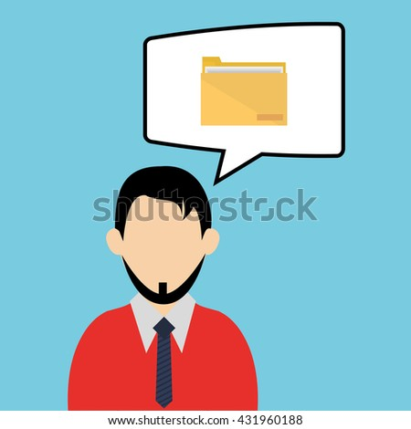 businessman design. corporate icon. Isolated illustration