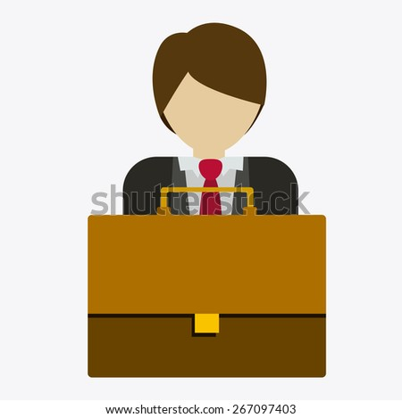 businessman design over white background, vector illustration