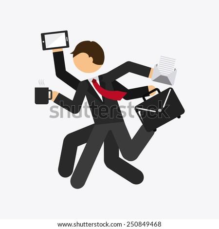 businessman design, vector illustration eps10 graphic  - stock vector