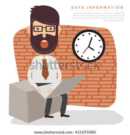 Businessman,employee concept design on clean background,vector - stock vector