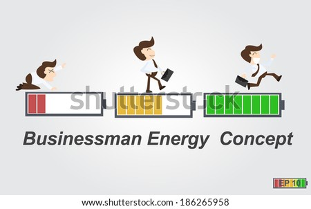 Businessman energy concept - stock vector