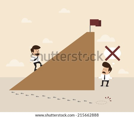 Businessman find alternative  way to the goal - stock vector