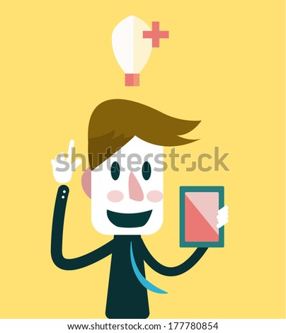 Businessman get Ideas. Business ideas. Vector - stock vector