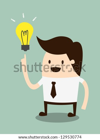 Businessman get the idea - stock vector