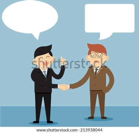 Businessman handshake - stock vector