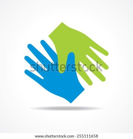 Businessman handshake icon stock vector  - stock vector