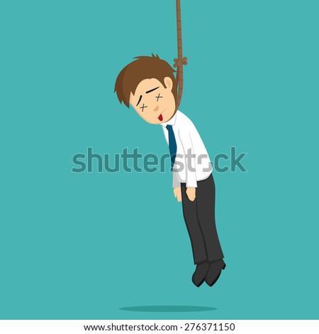 Businessman Hanging Punishment - stock vector