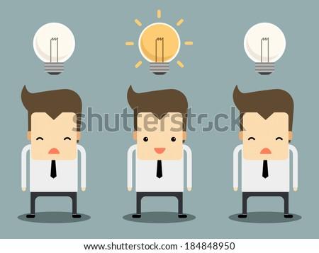 businessman have an idea vector - stock vector