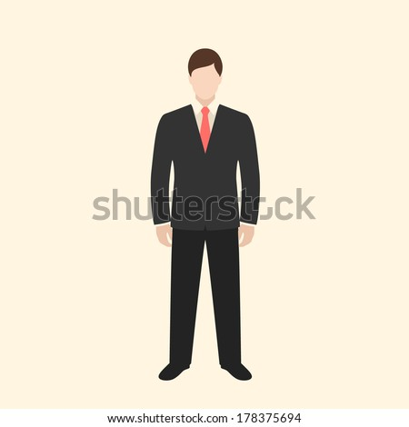 businessman icon. colorful flat style vector illustration - stock vector