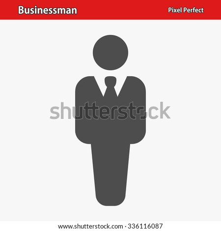 Businessman Icon. Professional, pixel perfect icon optimized for both large and small resolutions. EPS 8 format.