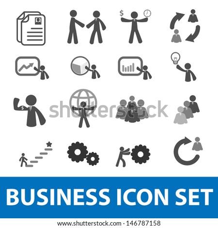 Businessman icon set - stock vector