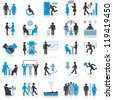 Businessman Icons. Vector Illustrations - stock photo
