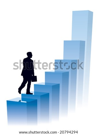 Businessman in a hurry, conceptual business illustration. - stock vector
