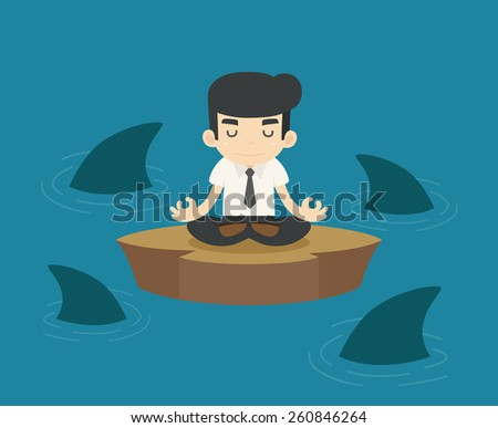 Businessman in a risky situation , eps10 vector format - stock vector