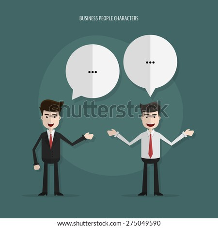 Businessman in conversation,Business people meeting,Vector EPS10. - stock vector