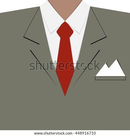 Businessman in earth tone suit vector background design for business presentation or poster