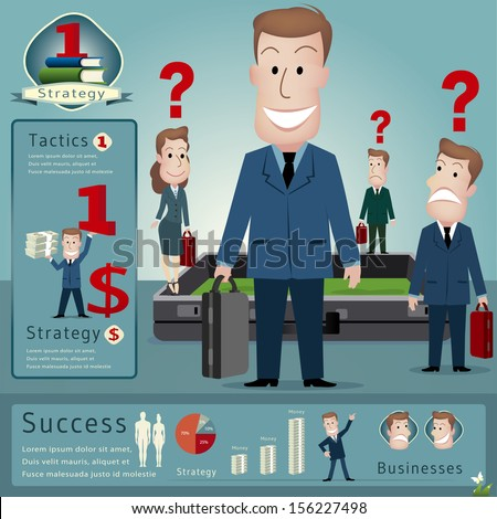 businessman infographics.vector illustration - stock vector