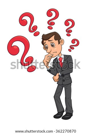 Businessman is looking for solution 4 - stock vector