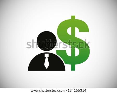 Businessman Money Symbol - stock vector