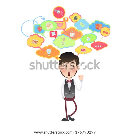 businessman over isolated background. Vector design