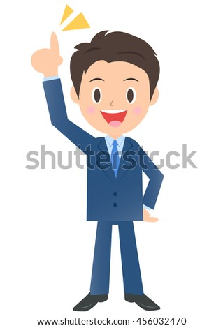 Businessman pointing at the sky