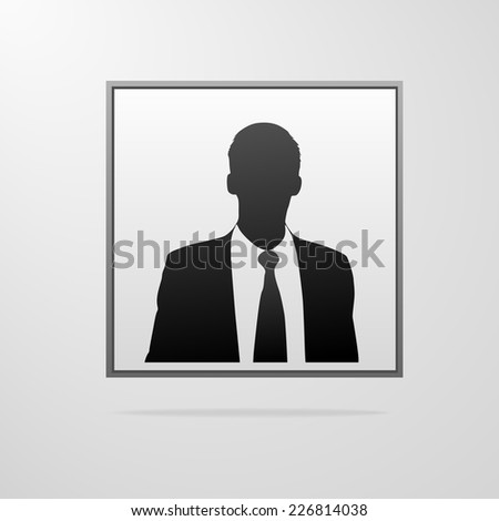 businessman portrait silhouette, male icon avatar profile picture black man vector illustration - stock vector