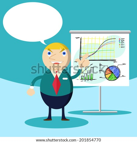 Businessman  presentation - stock vector