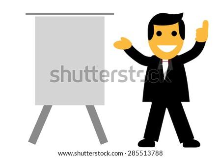 Businessman - Presenting Something  - stock vector
