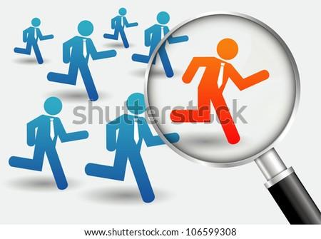 Businessman race - stock vector