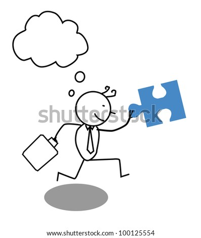 Businessman run for cooperation - stock vector