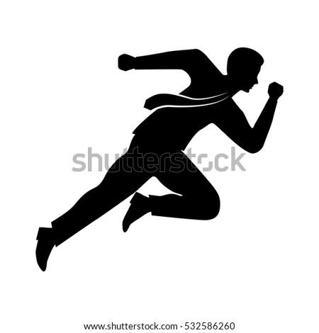 businessman running character isolated icon vector illustration design