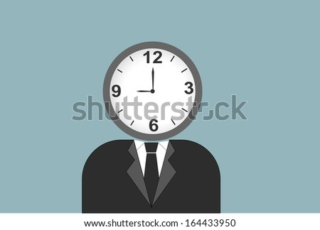 businessman running out of time