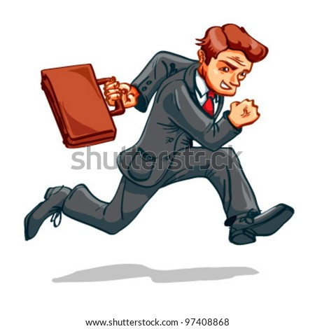 businessman running very quickly suitcase stock vector royalty free